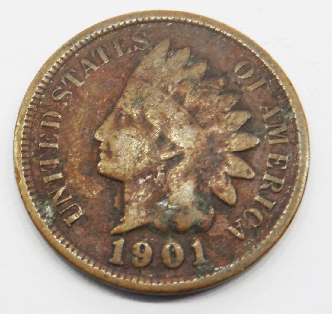 1901 Indian Head Cent One Cent Coin