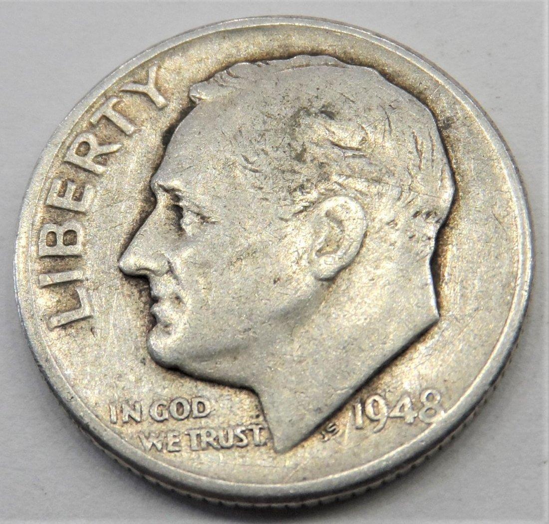 1948 90% Silver Dime