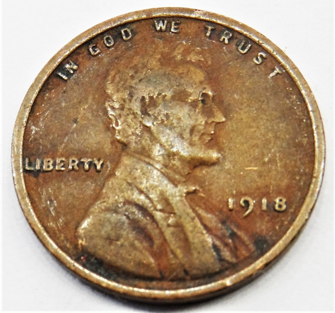 1918 Lincoln Wheat Cent One Penny 1 Cent