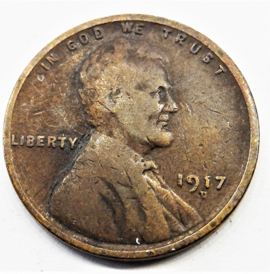 1917 D Lincoln Wheat Cent One Penny 1 Cent