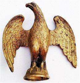 Large Antique Federal Eagle Cast Brass Flag Topper