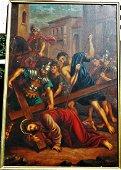 1881 Kurz & Allison Jesus Christ Oil Painting 28x41