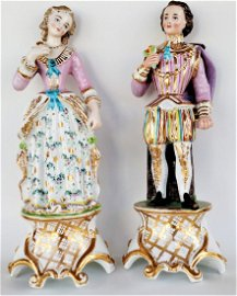 Porcelain Figures Marked H Lamps