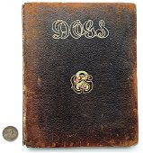 Dogs Melbourne's Sporting Library 1907 Leather Book