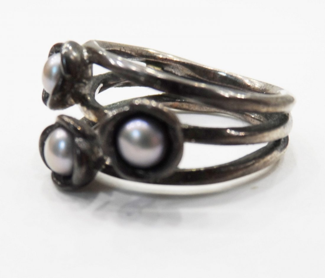 Sterling Silver Ring Pearl - 2
