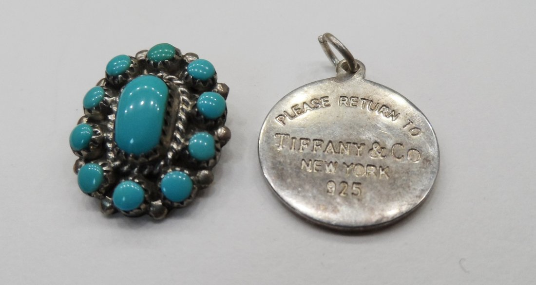 Sterling Silver Pendant Turquoise