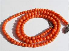 Coral Necklace Sterling Silver