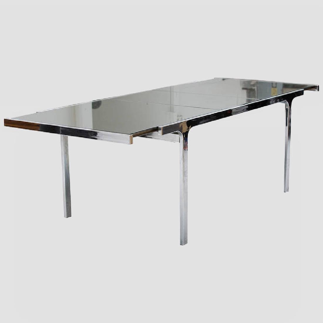 Pierre Cardin Mirror and Steel Table