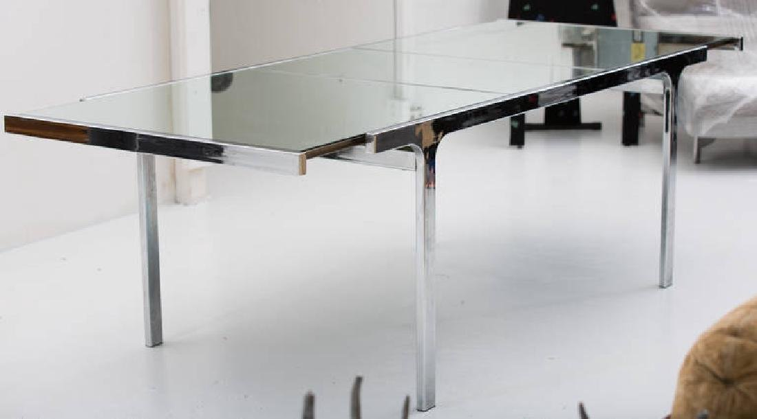 Pierre Cardin Mirror and Steel Table - 2