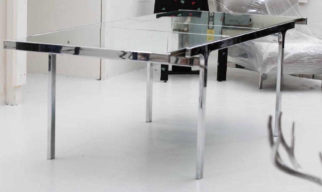 Pierre Cardin Mirror and Steel Table - 4