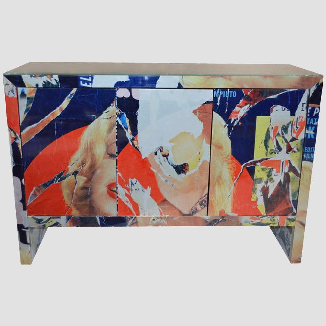 "Mimmo Rotella Art Cabinet ""Marylin Monroe"""