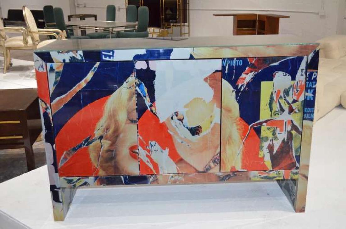 "Mimmo Rotella Art Cabinet ""Marylin Monroe"" - 2"