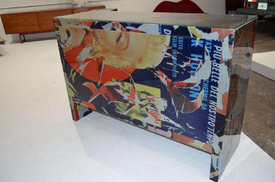 "Mimmo Rotella Art Cabinet ""Marylin Monroe"" - 5"