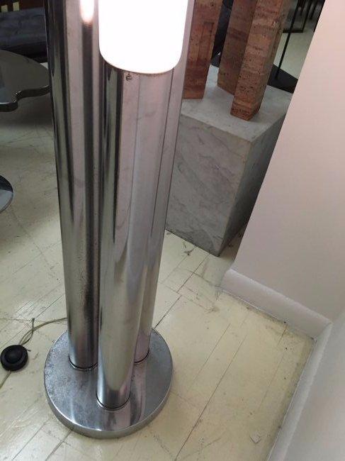 Mazzega Chromed Steel and Glass Floor Lamp - 10