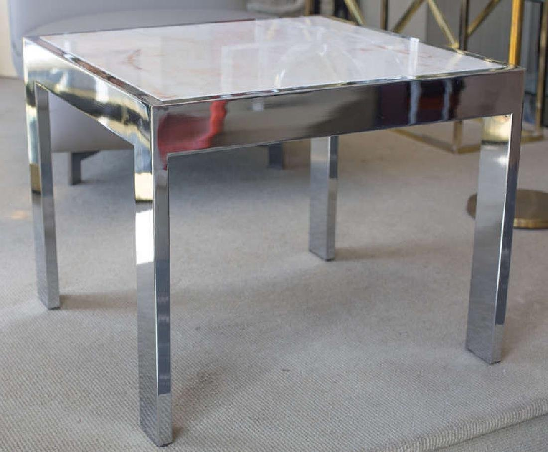 Marble and Steel Side Tables - 2
