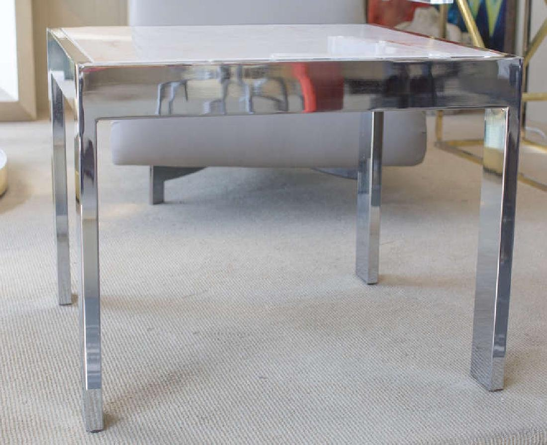 Marble and Steel Side Tables - 3