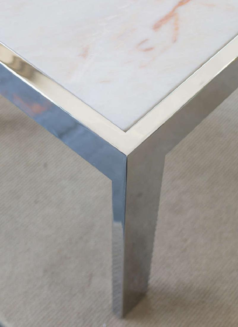 Marble and Steel Side Tables - 5
