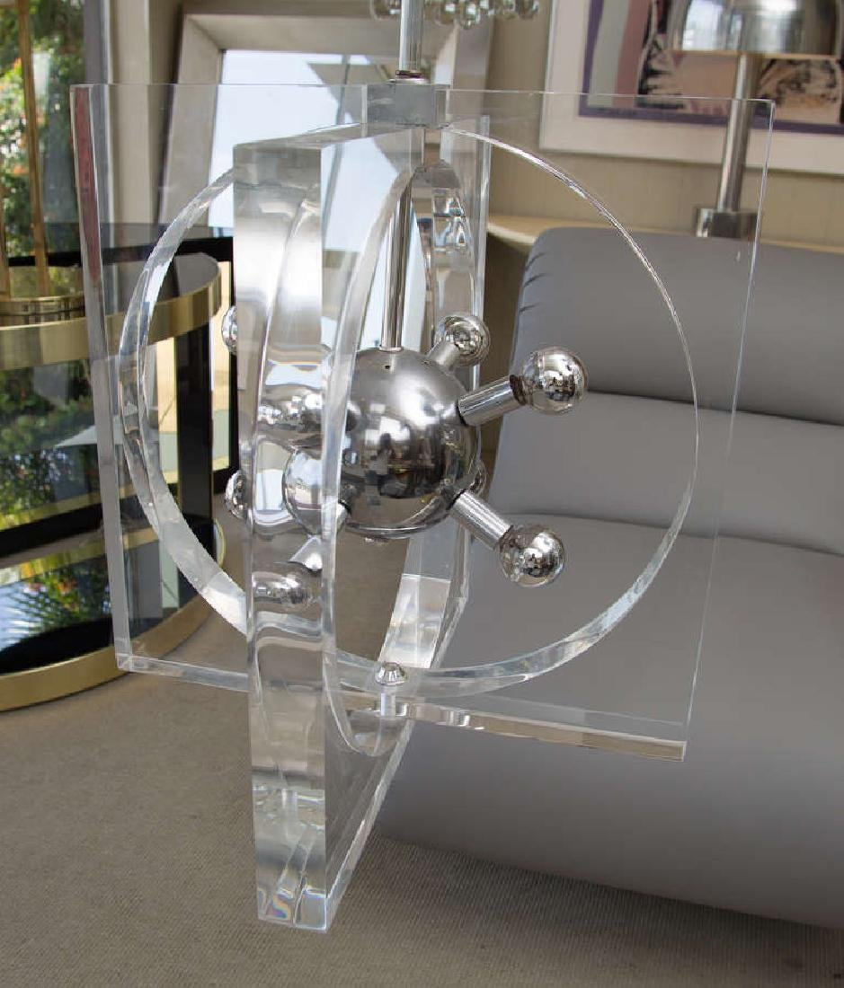 1970s Lucite and Chrome Chandelier - 4