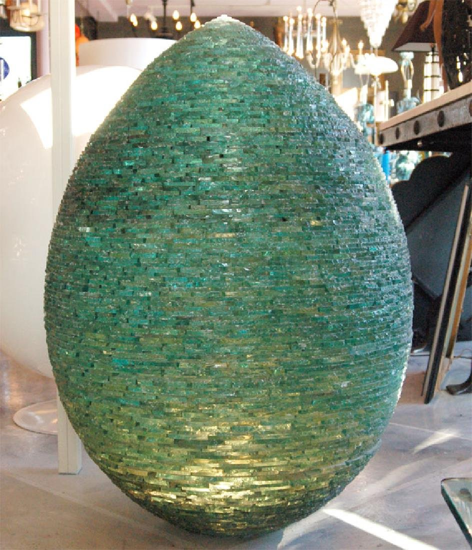 Francois Marcoville Implosion Glass Sculpture Signed - 5