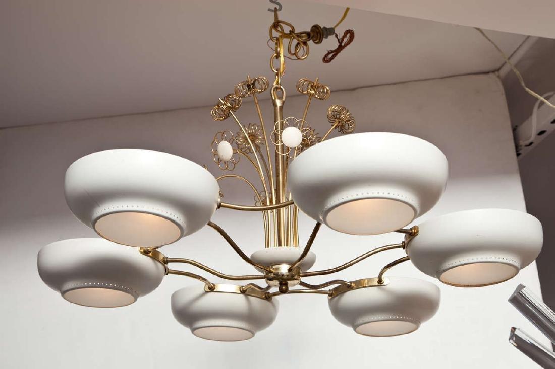 Lightholier Six Lights Brass and Enameled Metal - 2
