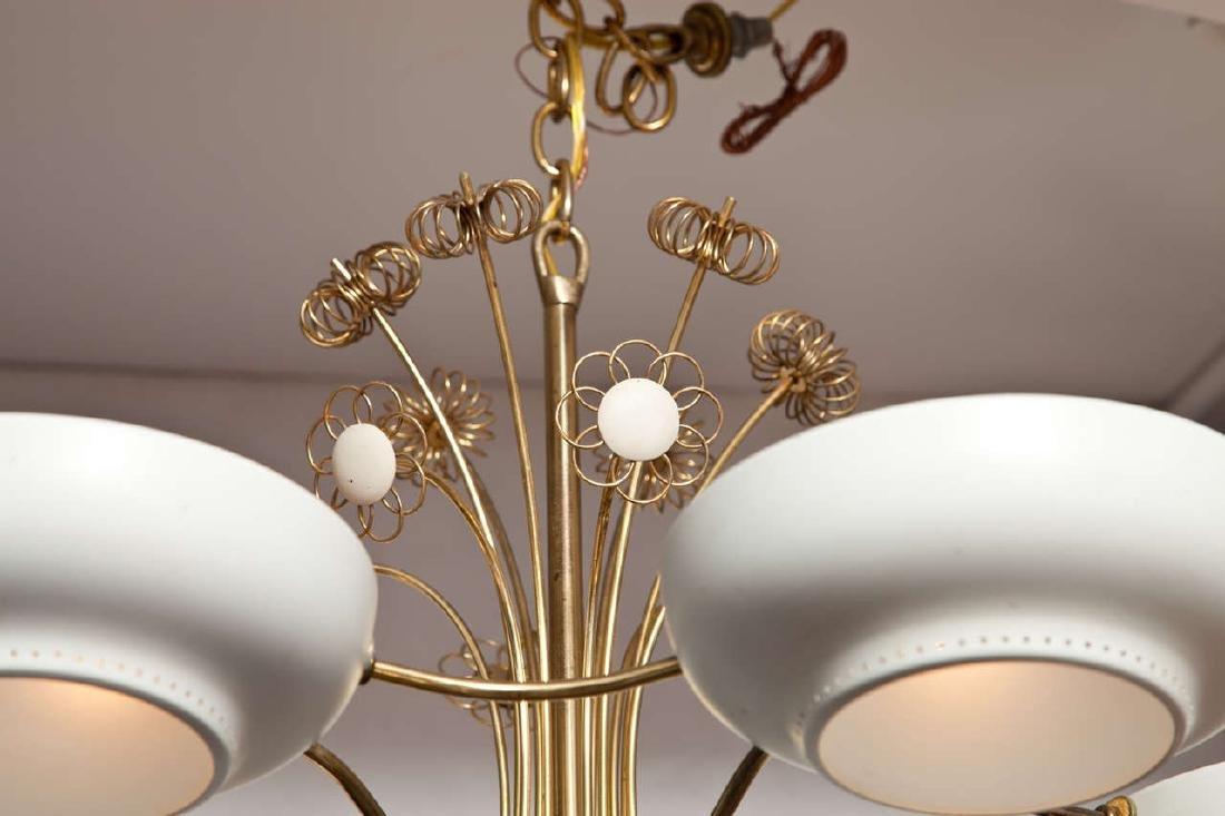 Lightholier Six Lights Brass and Enameled Metal - 3