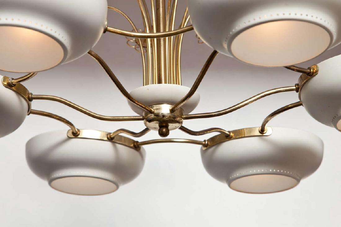 Lightholier Six Lights Brass and Enameled Metal - 4