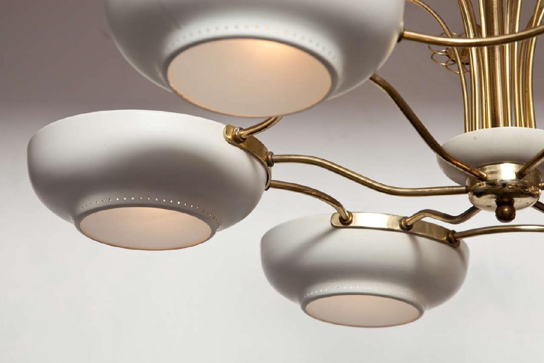 Lightholier Six Lights Brass and Enameled Metal - 5