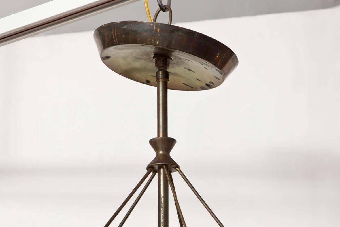Gerald Thurston Brass and Glass Chandelier - 3