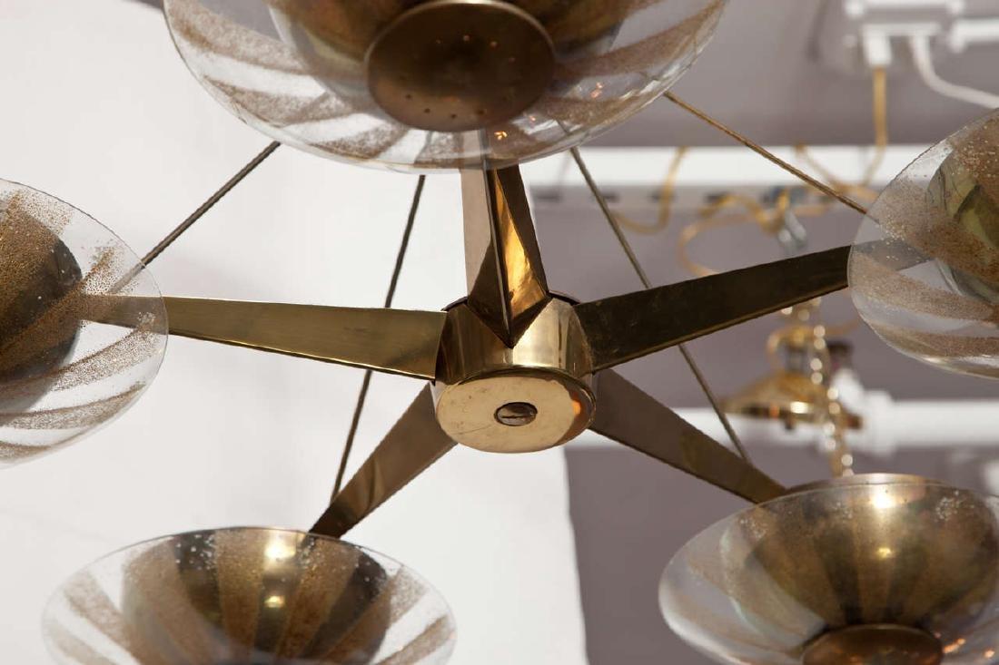 Gerald Thurston Brass and Glass Chandelier - 5