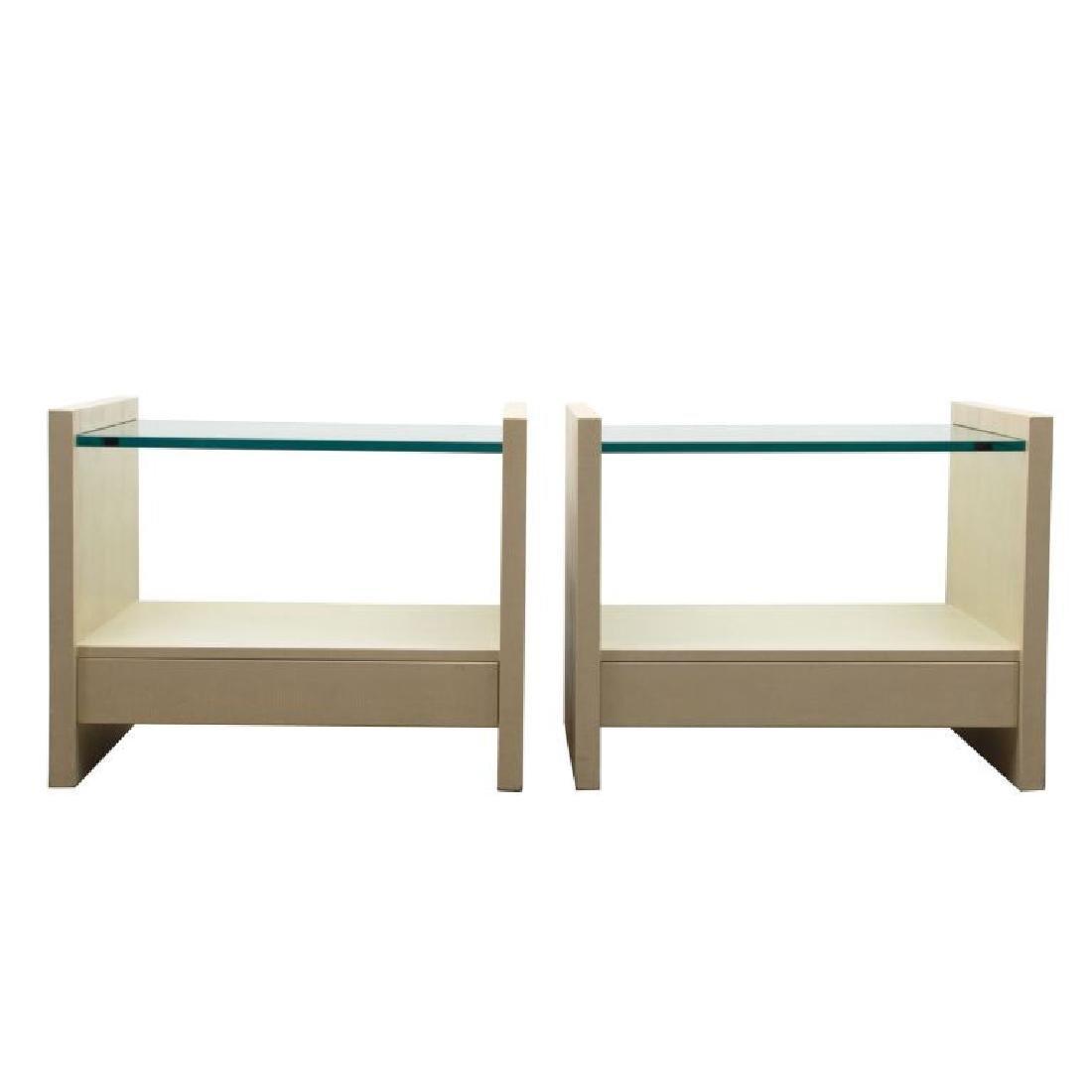 """Karl Springer """"Solid Side"""" Leather Tables - 2"""