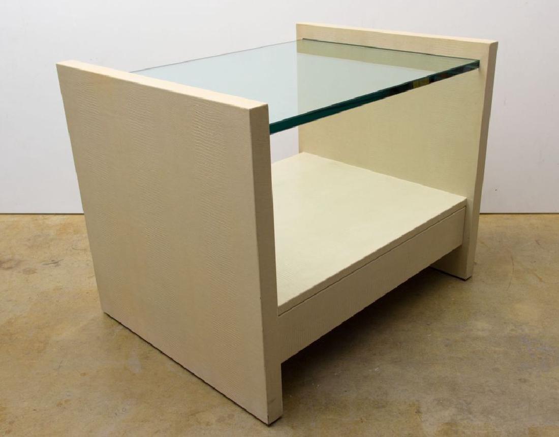 """Karl Springer """"Solid Side"""" Leather Tables - 3"""
