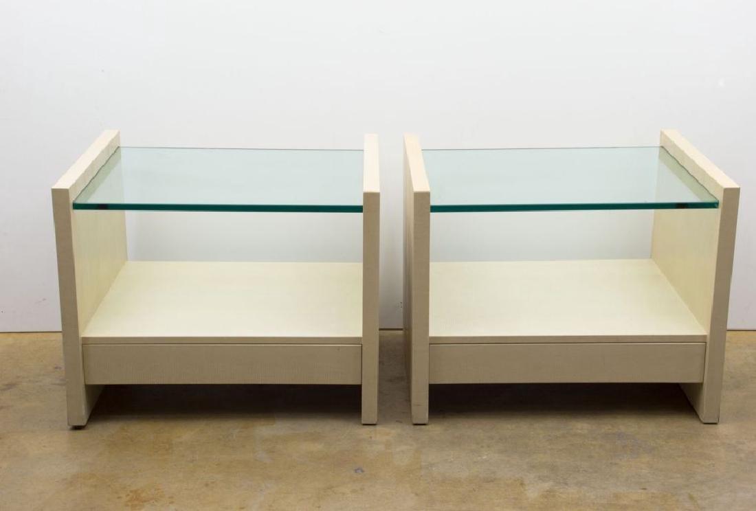 """Karl Springer """"Solid Side"""" Leather Tables - 5"""