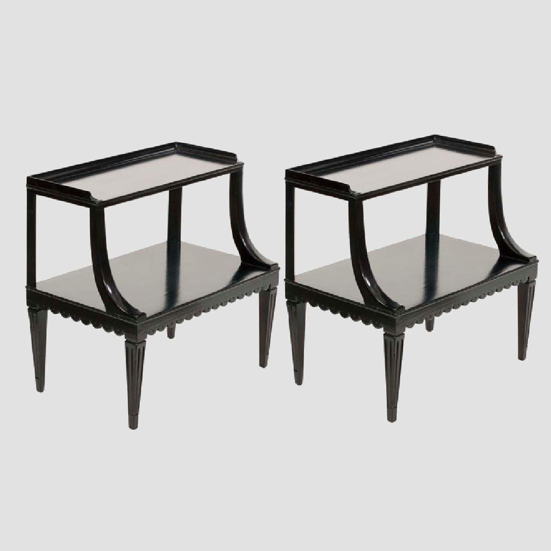 Dunbar Two Tier End Tables