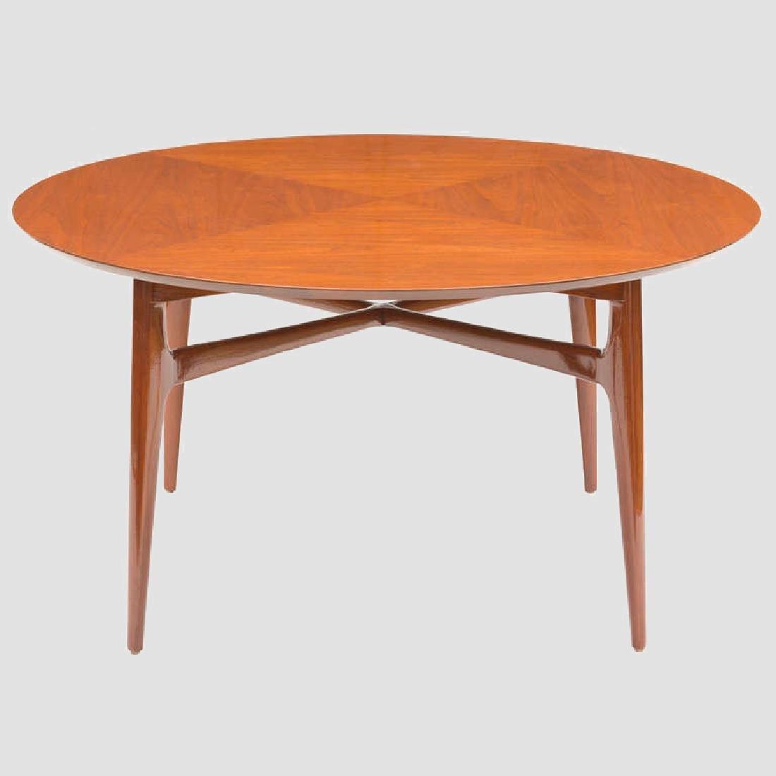 1950's Walnut Round Tea Table