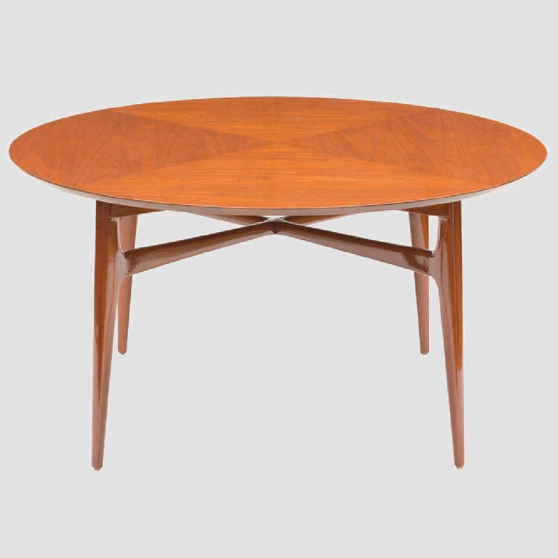 1950's Walnut Round Tea Table