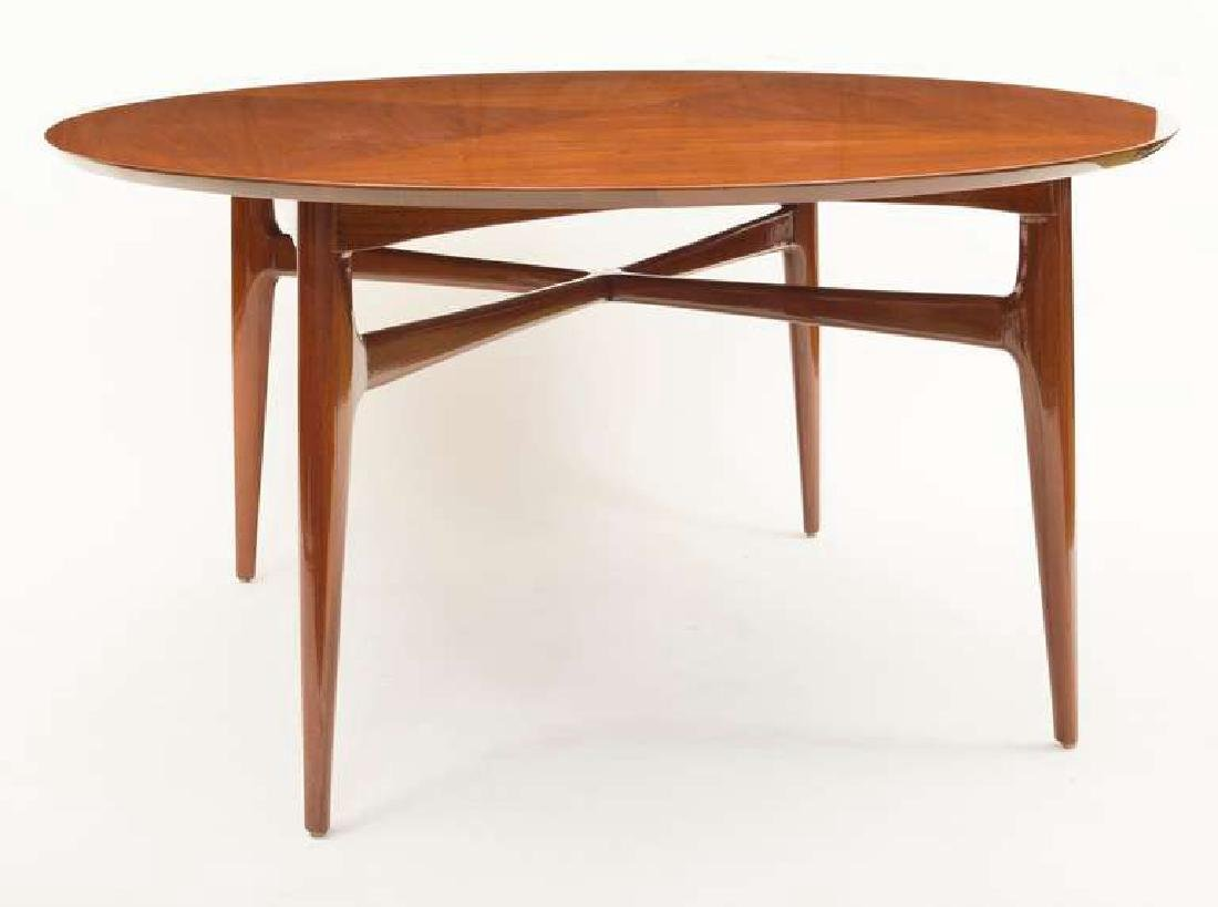 1950's Walnut Round Tea Table - 2