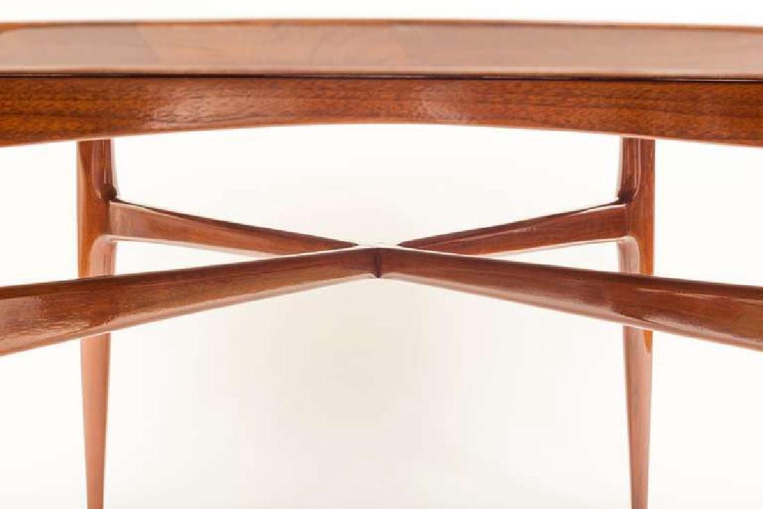 1950's Walnut Round Tea Table - 3