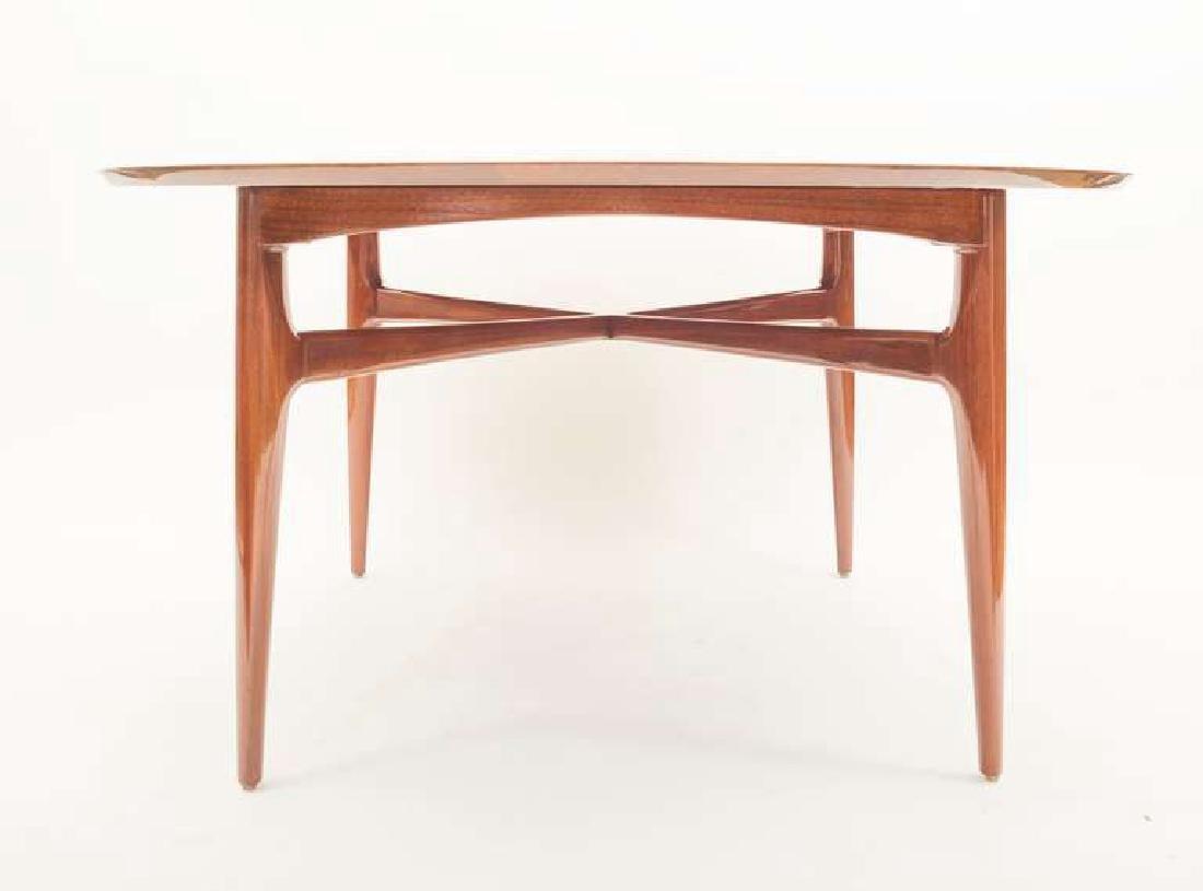 1950's Walnut Round Tea Table - 4