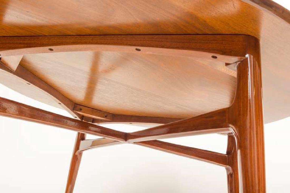 1950's Walnut Round Tea Table - 5