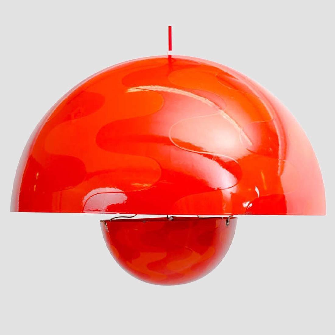 Verner Panton 1960's Op-Art Pendant Light