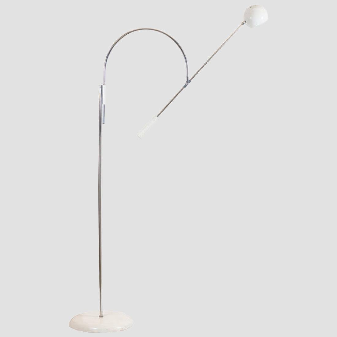 Robert Sonneman 1960s Large Orbiter Floor Lamp