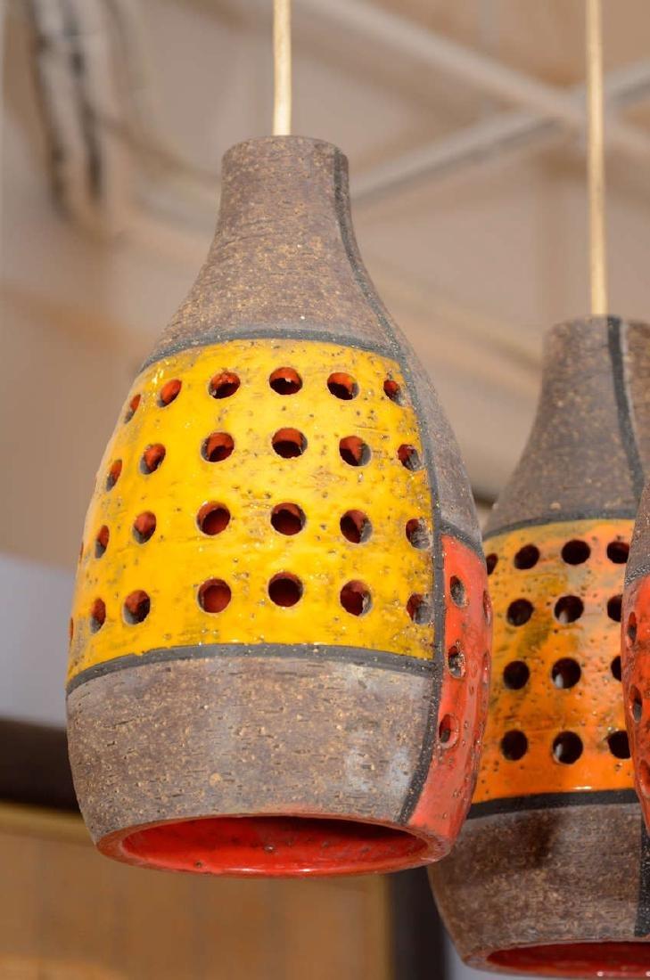 Italian Ceramic Pendant Fixture - 4
