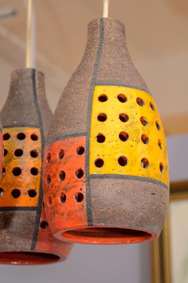 Italian Ceramic Pendant Fixture - 5