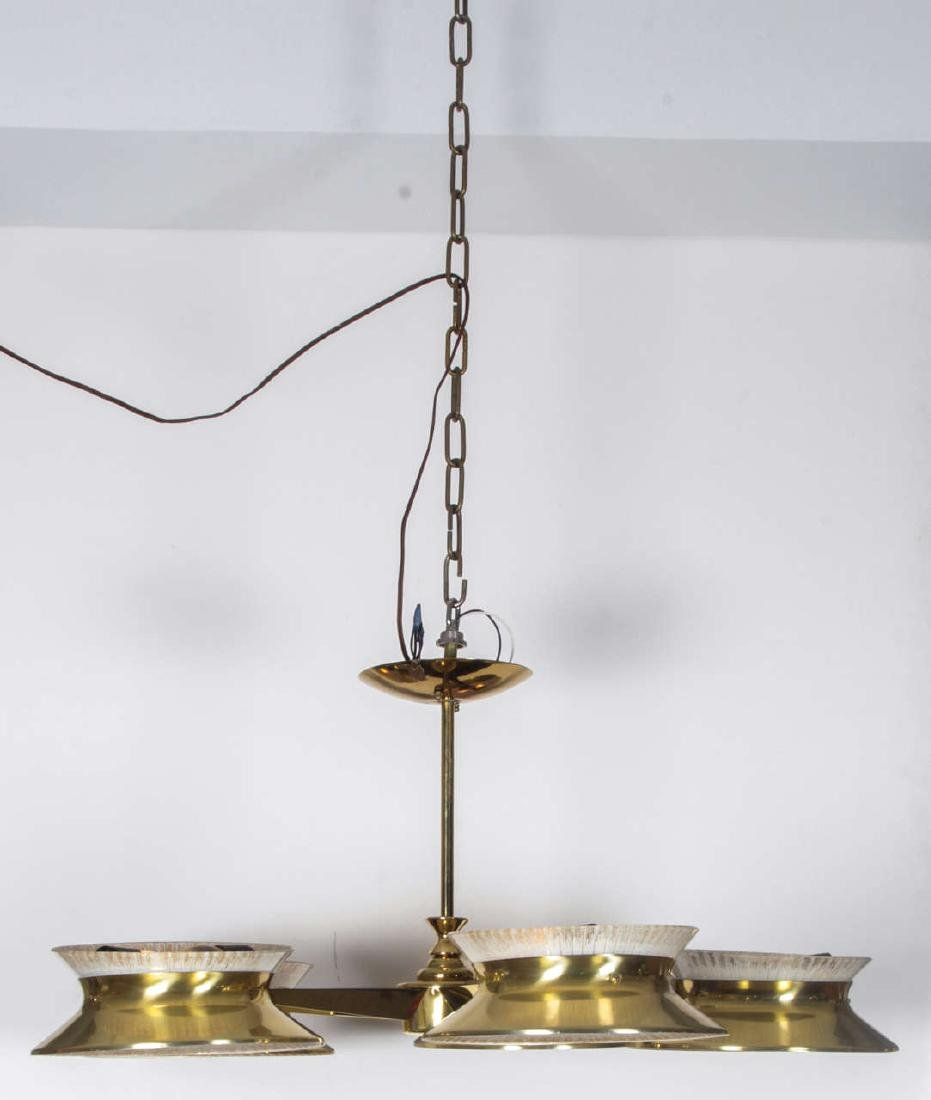 Five Arm Brass Chandelier by Lightolier - 2