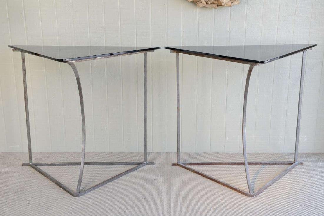Steel and Glass Tables - 2