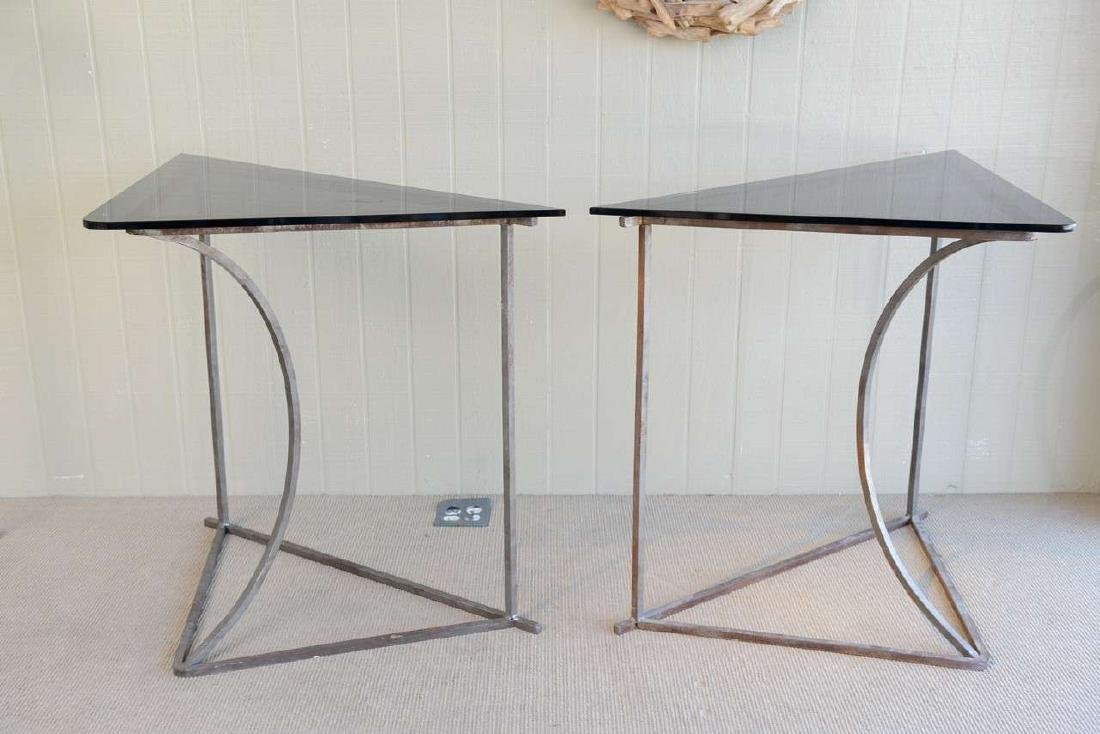 Steel and Glass Tables - 3