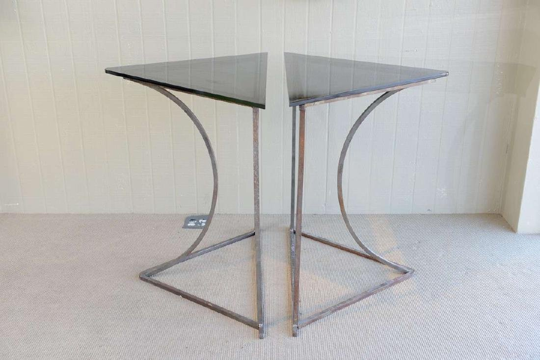 Steel and Glass Tables - 4