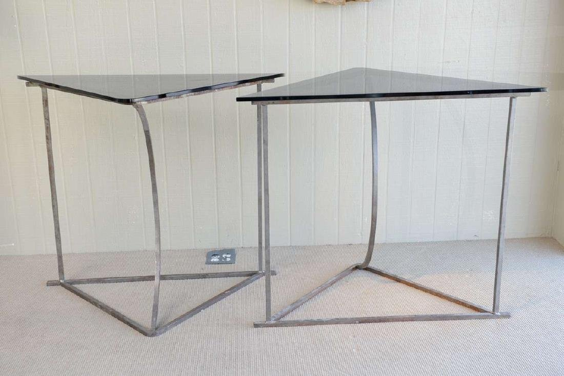 Steel and Glass Tables - 5