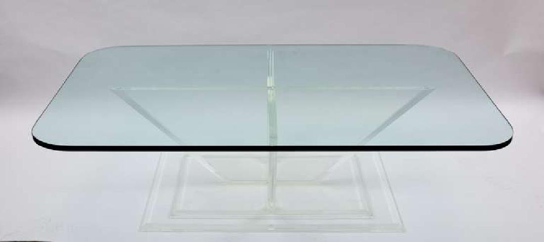 Sculptural Lucite and Glass Cocktail Table - 3