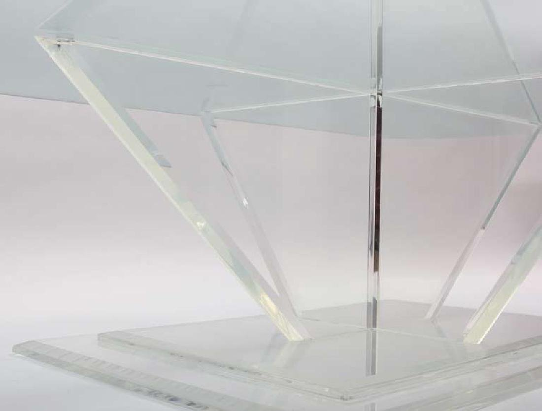 Sculptural Lucite and Glass Cocktail Table - 4